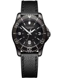 Victorinox Maverick Oval Stainless Steel Watch - Black