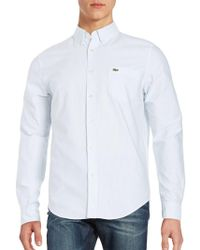 Lacoste - Men's Long Sleeve Gingham City Shirt - Lyst