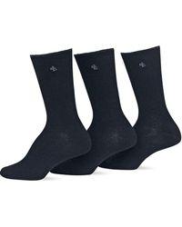 Ralph Lauren - 3-pack Tipped Rib Trouser Socks - Lyst