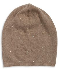 Portolano - Studded Slouch Fur Hat - Lyst