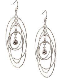 BCBGeneration Orbital Crystal Multi Circle Dangle & Drop Earrings - Metallic