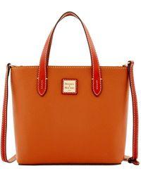 Dooney & Bourke Leather Crossbody Satchel - Red