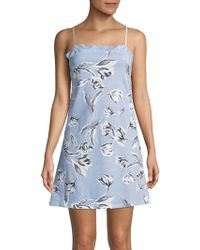 Lord & Taylor - Lace-trimmed Cotton Chemise - Lyst