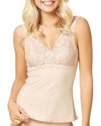 Fine Lines - Luxuries Lace Cup Camisole - Lyst