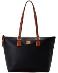 Dooney & Bourke Wren Leather Zip Tote - Black