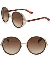 4555e31d8d8 Lyst - Jimmy Choo Andie Crystal 54mm Sunglasses in Brown