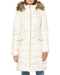 Ellen Tracy - Heavy Weight Faux Fur-trimmed Quilted Down Jacket - Lyst