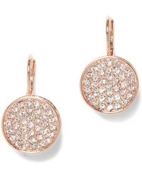 Vince Camuto Pave Crystal Drop Earrings - Metallic
