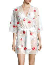 Rya Collection - Embroidered Surplice Robe - Lyst