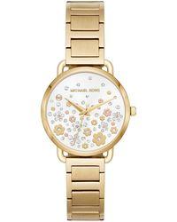 Michael Kors - Portia Floral Bracelet Watch - Lyst