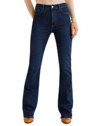 Mango Flared High-rise Jeans - Blue