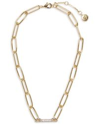 Vince Camuto Goldtone Link Strand Necklace - Metallic