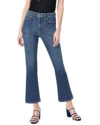Joe's Jeans Callie Utility Crop Bootcut Jeans - Blue