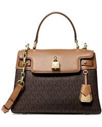 a3456454685d Lyst - MICHAEL Michael Kors Isabella Medium Shoulder Bag in Natural