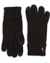 Polo Ralph Lauren - Ribbed Wool Gloves - Lyst