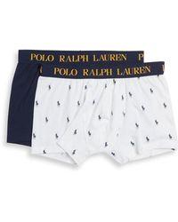 Polo Ralph Lauren 2-pack Logo Boxer Brief Set - White