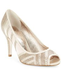 Adrianna Papell - Flair Embellished Open Toe Stilettos - Lyst