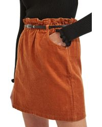 Miss Selfridge - Belted Corduroy Skirt - Lyst