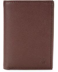 Lauren by Ralph Lauren Burnished Leather Tri-fold Wallet - Brown