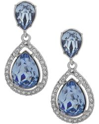 Givenchy - Silvertone And Crystal Drop Earrings - Lyst