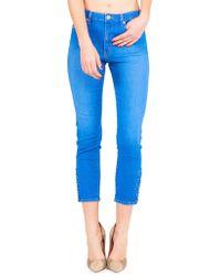 Kendall + Kylie - Pierced Skinny Jeans - Lyst