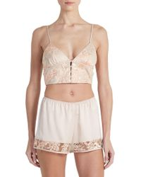 Rya Collection - The Heart 2-piece Embroidered Charmeuse Bralette & Shorts Set - Lyst