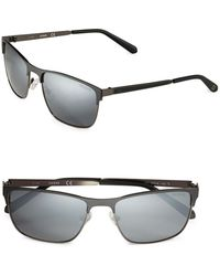 36a3773e4bab5 Lyst - Guess Square Aviator Sunglasses in Black for Men