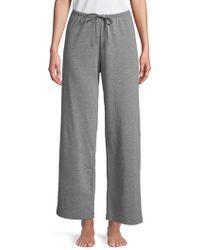 Hue Classic-fit Cotton Pajama Pants - Gray