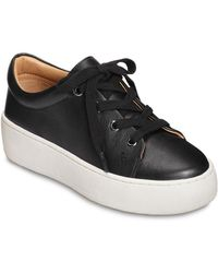 Aerosoles Term Paper Leather Sneakers - Black