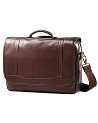 Samsonite - Columbian Leather Flapover Briefcase - Lyst