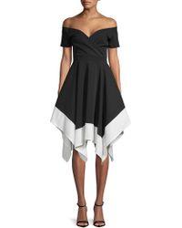 Quiz - Hanky Fit-&-flare Dress - Lyst