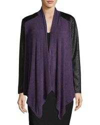 Jones New York - Drape Cardigan - Lyst