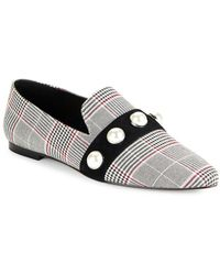 Lord & Taylor - Haven Pearl-embellished Plaid Loafers - Lyst