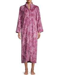 Miss Elaine Printed Full-zip Robe - Multicolour