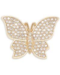 Vince Camuto Pavé Butterfly Brooch - Metallic