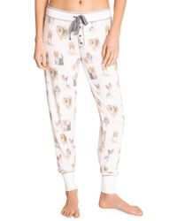 Pj Salvage Pawsitively Spoiled Drawstring Joggers - White