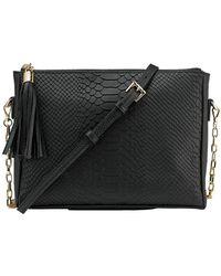 Gigi New York - Spring Python Hailey Crossbody Leather Bag - Lyst