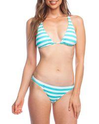 f18feec59b343 Polo Ralph Lauren Triangle Bikini Top With Crochet in Black - Lyst