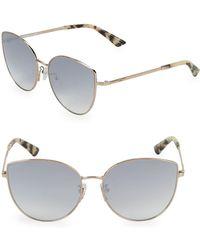 McQ - Tortoise Cat Eye Sunglasses - Lyst