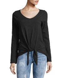 Lord & Taylor - Front-tie Cotton Top - Lyst