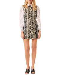 French Connection Mixed-reptile Print Sundae Dress - Natural