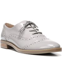 Franco Sarto - Imagine Stacked Patent Leather Heel Wingtip Oxfords - Lyst