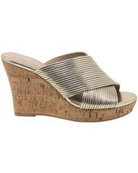 Charles David Linger Metallic Wedge Sandals