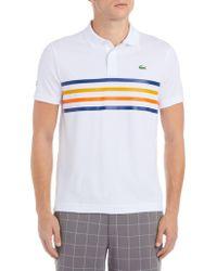Lacoste - Multicolour Fine Stripes Short-sleeve Sport Piqué Polo - Lyst