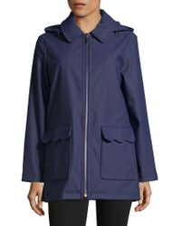 Kate Spade - Zipped Half Trench Coat - Lyst