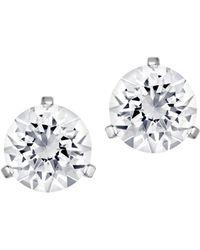 Swarovski Solitaire Crystal Stud Earrings - Metallic