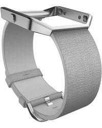 Fitbit Blaze Leather Band And Frame - Gray