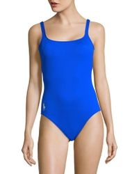 Polo Ralph Lauren | Padded One-piece Swimsuit | Lyst