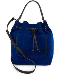 Lord & Taylor - Drawstring Top Handle Bag - Lyst
