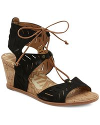 Dolce Vita - Langly Leather Wedge Sandals - Lyst